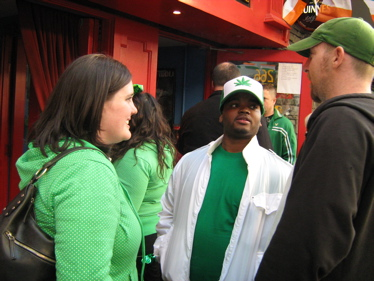 Green hat at St Patrick's Day parade