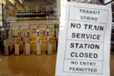 NYC transit strike