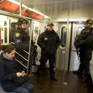 NYPD Hercules force on the subway