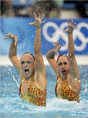 synchronized swimming at Beijing