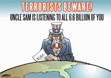 Terrorists Beware cartoon
