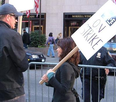 Tina Fey on the picket lines