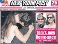 tom cruise katie holmes kissing