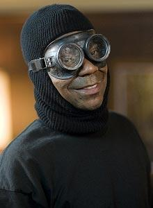 Tracy Morgan in goggles