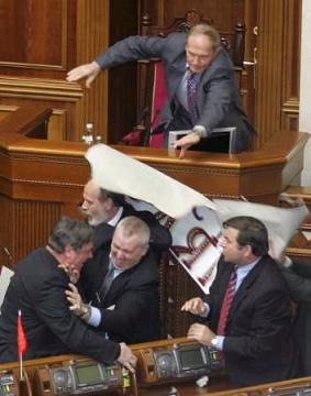 Fun in the Ukraine parliament