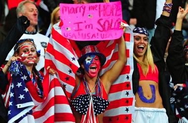 US women's soccer fans in Germany
