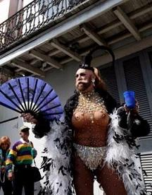 some weirdo at Mardi Gras