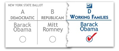 Working Families Party NY State ballot